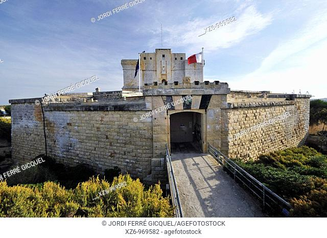 Old Fort of St Lucian to protect the Marsaxlokk bay from Turkish attacks, Malta, Europe, november 2009