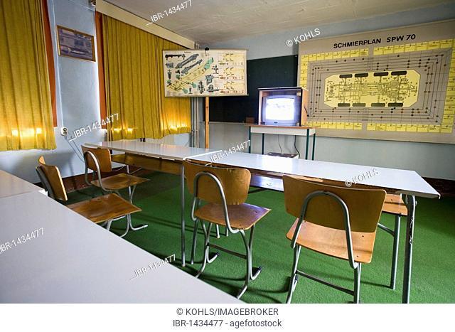 Training Room, NVA Museum army museum, Ruegen island, Mecklenburg-Western Pomerania, Germany, Europe