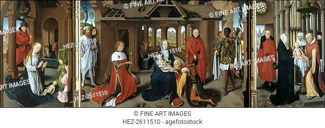 Nativity. The Adoration of the Magi. The Presentation of Jesus at the Temple, 1479-1480. Artist: Memling, Hans (1433/40-1494)