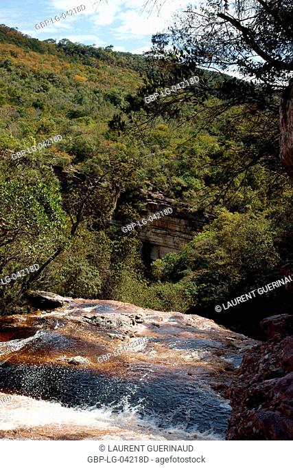 Landscape, Riachinho Waterfall, Vale do Capão, Chapada Diamantina, Bahia, Brazil