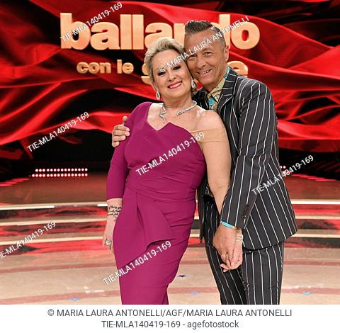 Carolyn Smith, Paolo Belli at the talent show ' Ballando con le stelle ' (Dancing with the stars) Rome, ITALY-14-04-2019