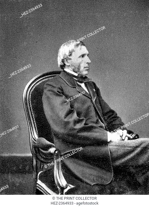 Joseph Louis Gay-Lussac, French physicist and chemist, 1848. Gay-Lussac (1778-1850) made balloon ascents to investigate terrestrial magnetism and composition...