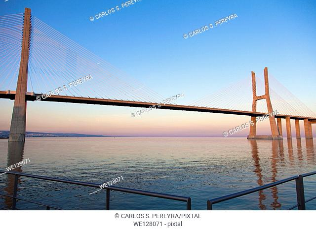 Vasco da Gama Bridge. Lisbon. Portugal