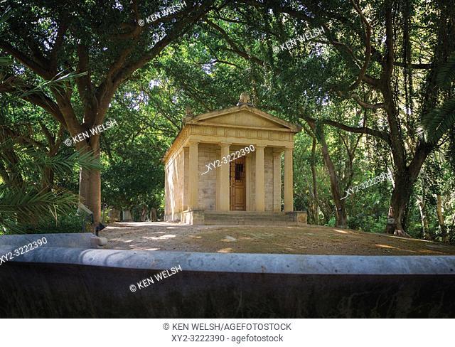 Malaga, Costa del Sol, Malaga Province, Andalusia, southern Spain. El Jardín Botánico- Histórico La Concepción. La Concepcion Historical-Botanical Gardens