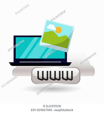 Cloud computing concept with icon design, vector illustration 10 eps graphic