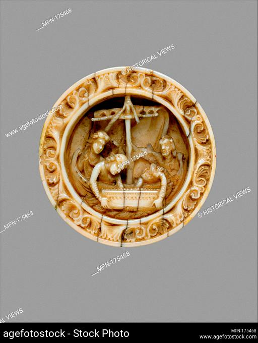 Game Piece with a Scene from the Life of Apollonius of Tyre. Date: ca. 1170; Geography: Made in Cologne, Germany; Culture: German; Medium: Walrus ivory;...