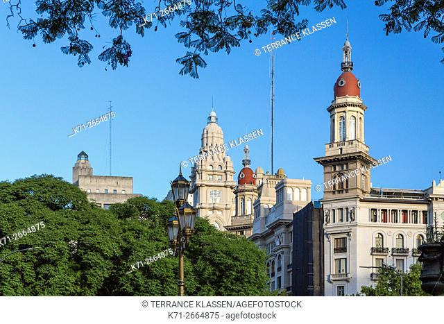 A building with dome architecture in downtown, Buenos Aires, Argentina, South America
