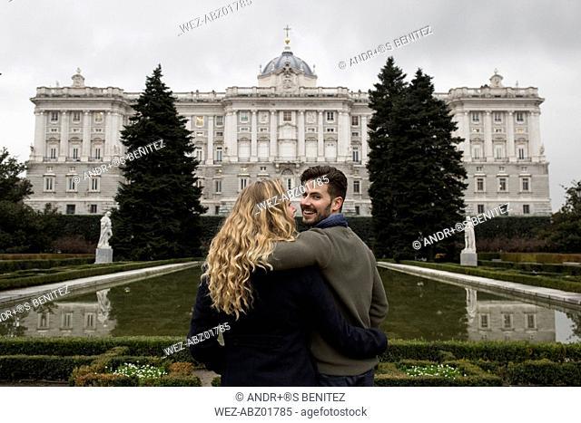 Spain, Madrid, couple at the Royal Palace