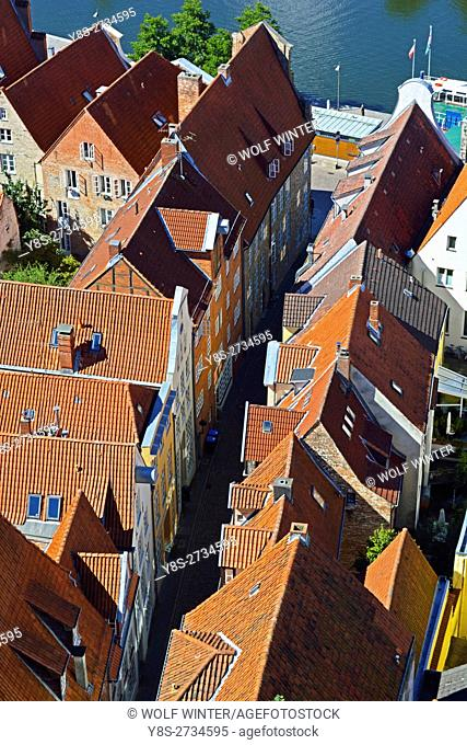 At the Bay of Luebeck. One of the most popular vacation regions in the north of Germany. . Hanseatic City of Luebeck, Schleswig-Holstein. Old Town