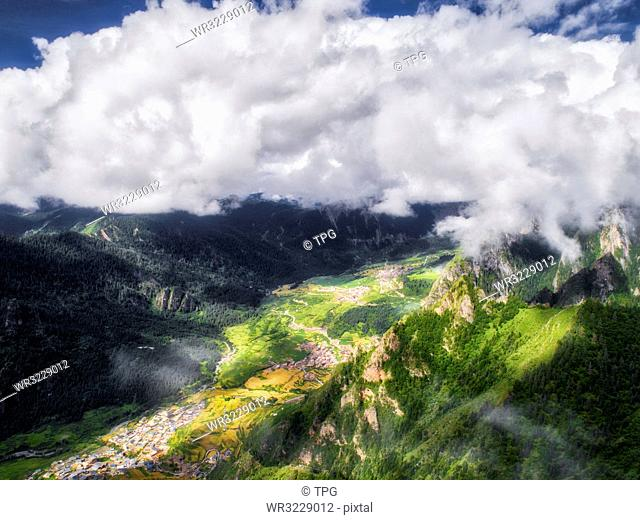 aerial photography of Dongwa;Gansu Province;China