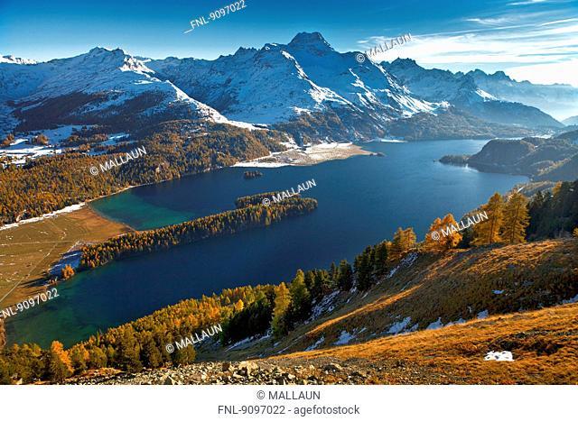 Lake Sils, Engadine, Grisons, Switzerland