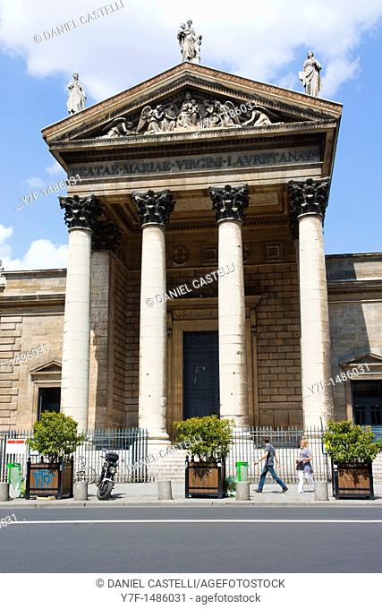 Front of the Madeleine church, place de la Madeleine, Paris