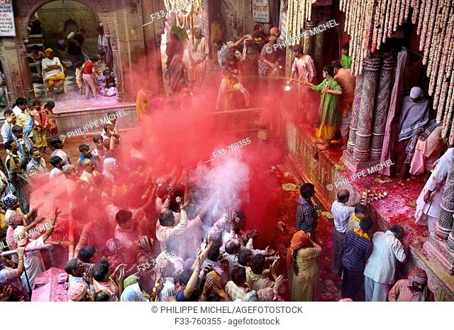 India, Holi festival, color and spring festival