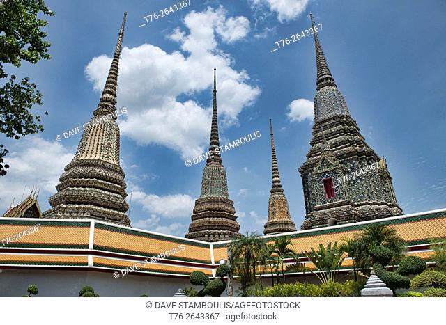 View of Wat Pho in Bangkok, Thailand