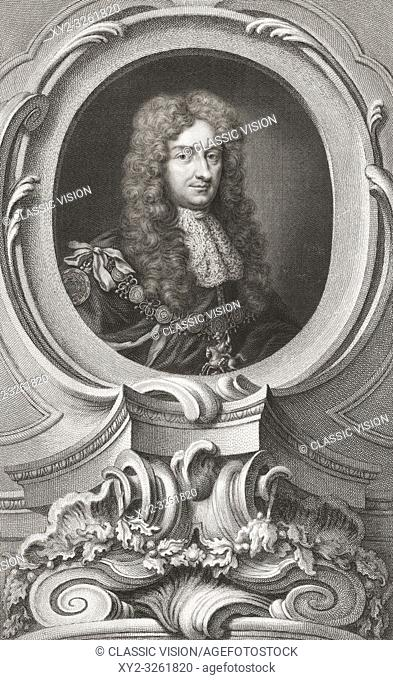 Laurence Hyde, 1st Earl of Rochester, 1641-1711. English statesman and writer. From the 1813 edition of The Heads of Illustrious Persons of Great Britain
