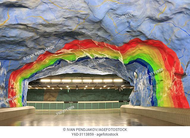 Stadion Metro Station, Stockholm, Sweden