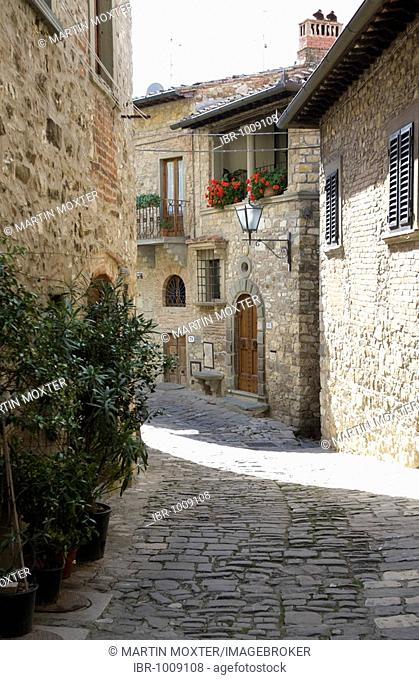 St Angelo, typical old wine village with old alleys, Chianti, Province of Florence, Firenze, Tuscany, Italy, Europe