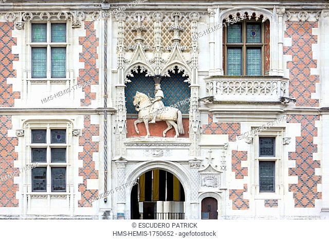 France, Loir et Cher, Loire Valley, listed as World Heritage by UNESCO, Blois, Louis XII facade of Blois royal castle