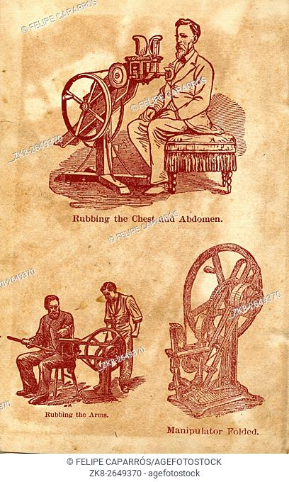 Machine for rubbing the chest and abdomen, Special machines from the beginning of the century