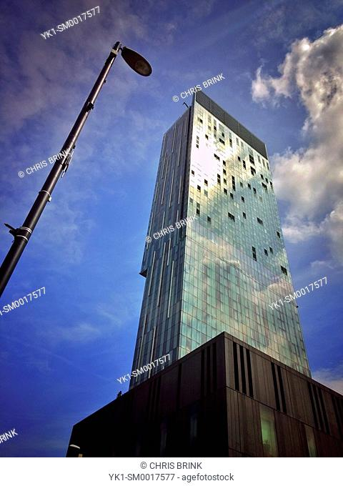 Beetham tower with Hilton hotel on Deansgate in Manchester UK
