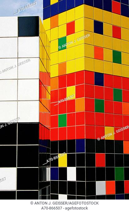 Multicolored color cubes