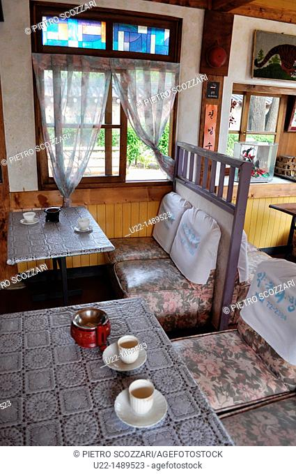 Seoul (South Korea): reconstruction of a Seventies-style traditional Korean café by the National Folk Museum