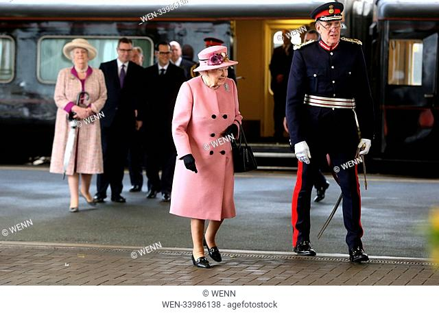 The Queen Elizabeth II arrives at Plymouth train station during her visit to Plymouth Featuring: Queen Elizabeth II Where: London