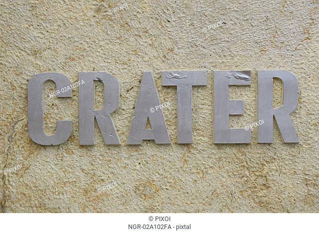 Crater sign