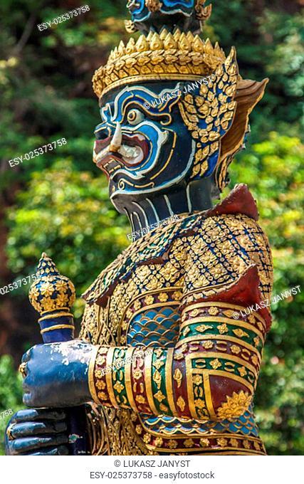 thai giant statues,giant symbol in thai temple