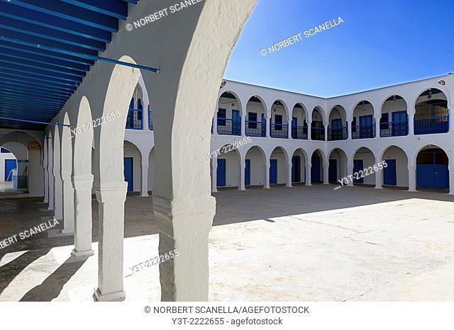 Africa, North Africa, Maghreb, South Tunisia, Governorat of Medenine. Djerba island. Hara Sghira. Ghriba Jewish synagogue