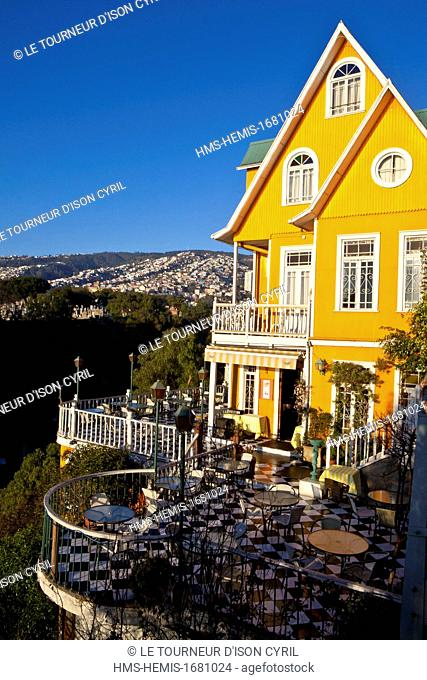 Chile, Valparaiso Region, Valparaiso, historical centre listed as World Heritage by UNESCO, the Brighton hotel in Barrio Alto
