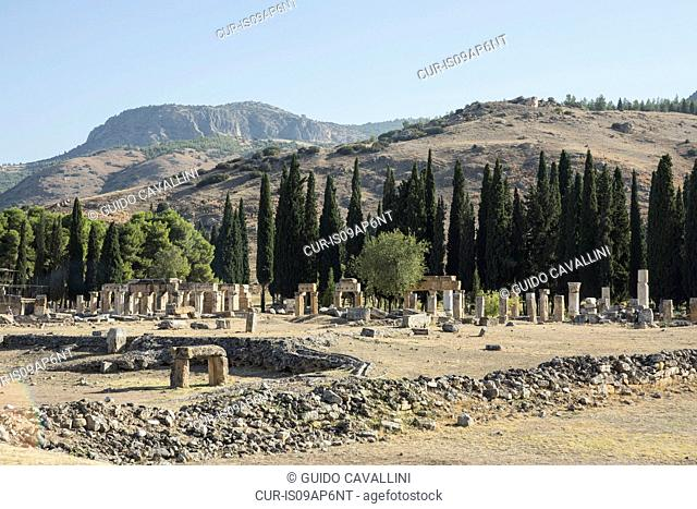 View of columns and pillars at Hierapolis, Cappadocia, Anatolia,Turkey