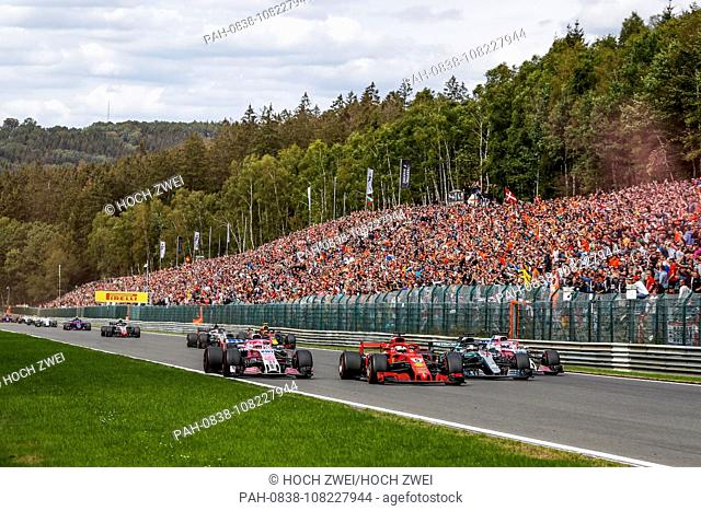 Motorsports: FIA Formula One World Championship 2018, Grand Prix of Belgium, .Start, #31 Esteban Ocon (FRA, Racing Point Force India F1 Team)