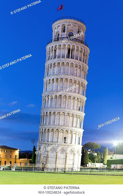 Campanile, Leaning Tower of Pisa, Piazza del Duomo, Pisa, Tuscany, Italy