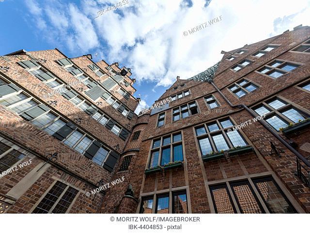Brick houses in the Böttcherstraße, Altstadt, Bremen, Germany