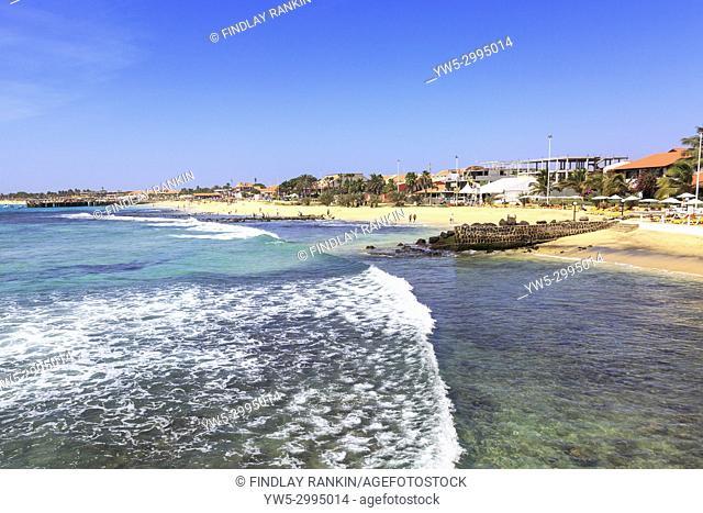 Ponta Sino beach, Santa Maria, Sal Island, Salinas, Cape Verde, Africa