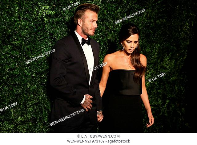 60th London Evening Standard Theatre Awards 2014 held at the London Palladium Featuring: David Beckham, Victoria Beckham Where: London