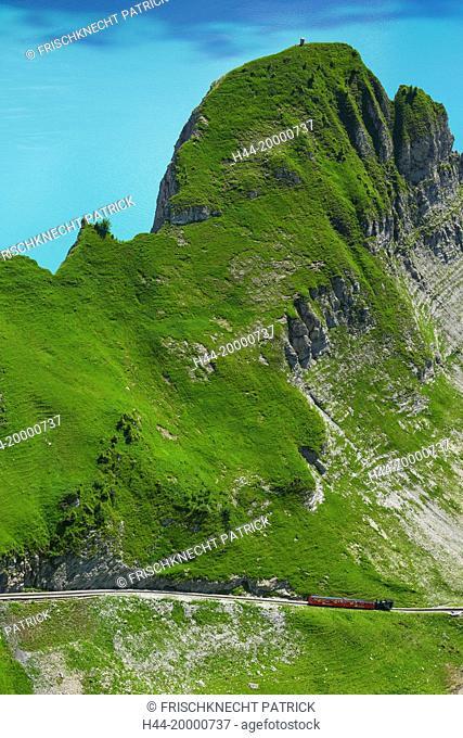 Brienz Rothorn mountain railway in the Bernese Oberland, Switzerland