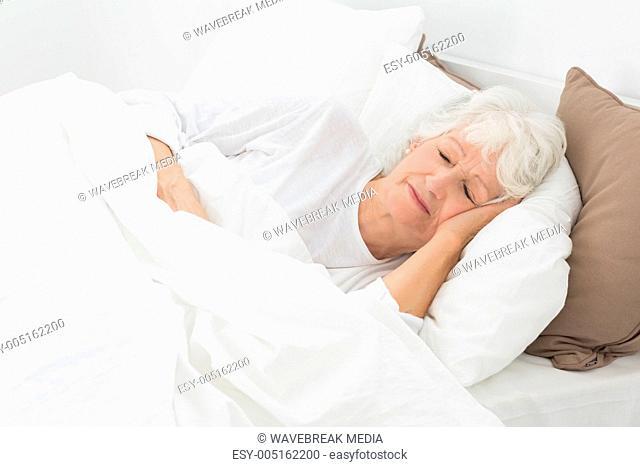 Aged woman sleeping