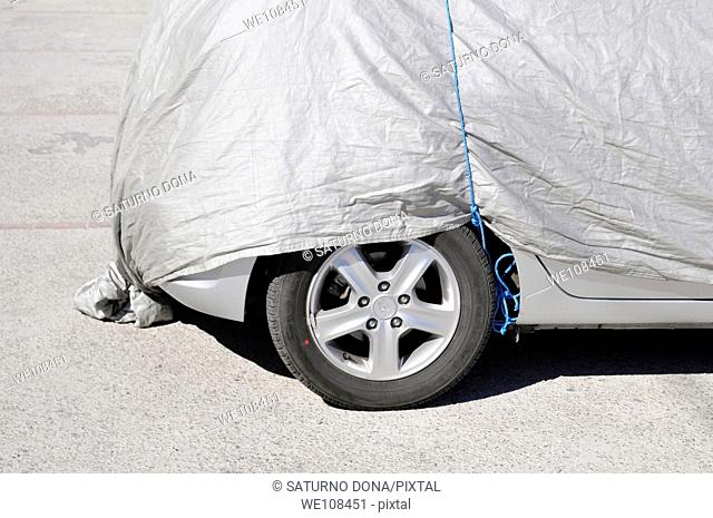 car parked under cover