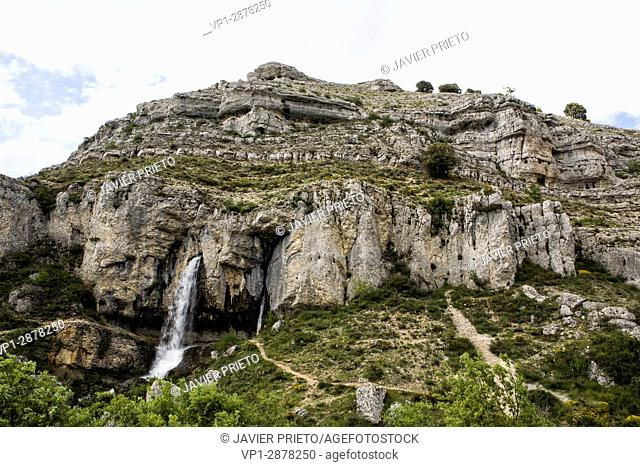 Source of the river Odra, near the town of Fuenteodra. La Loras World Geopark. Burgos. Castilla y León. Spain