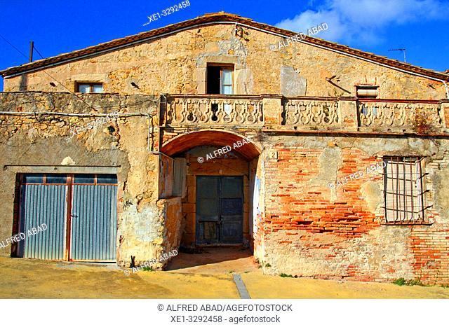 rural housing, Palau-Sator, Baix Empordà, Girona, Catalonia, Spain