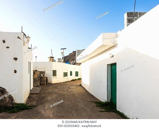 Street of a fishing village, Fuerteventura