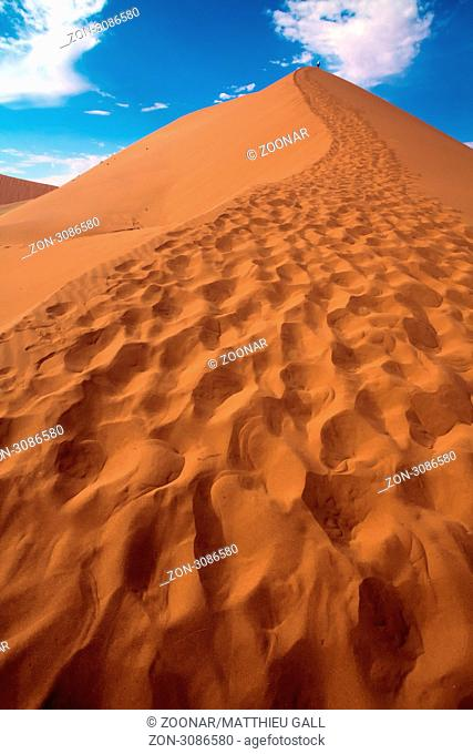 close up of the dune 45 near sossusvlei namibia africa