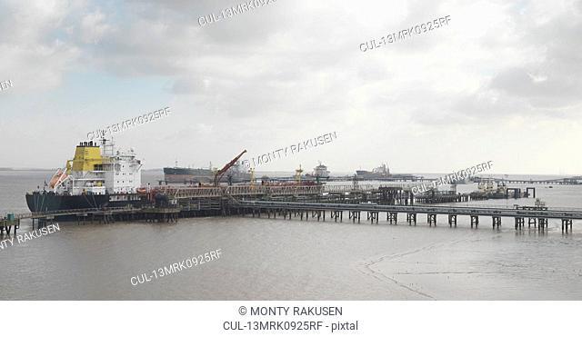 Ships Docked At A Port