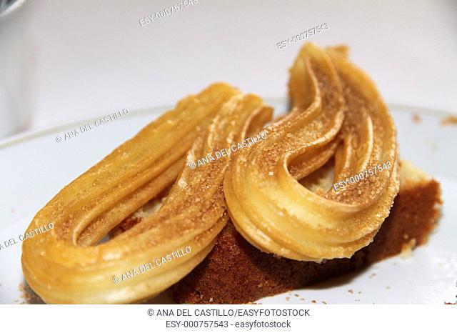 Churros Spanish fried pastry breakfast
