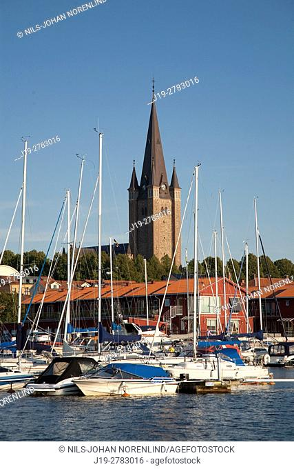 Cathedral by the port, Vänern Mariestad, Sweden