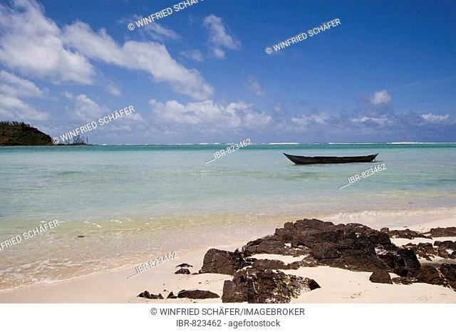 Boat on the beach, Nosy Nato Island, Madagascar, Africa