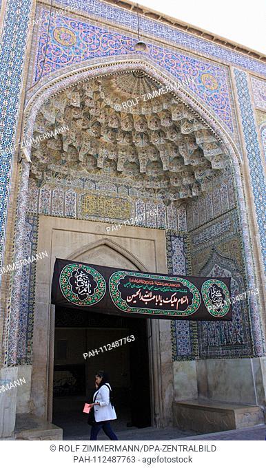 Iran - Shiraz, capital of the central Sud province of Fars, Nasir al Molk mosque. Taken on 20.10.2018. Photo: Rolf Zimmermann | usage worldwide