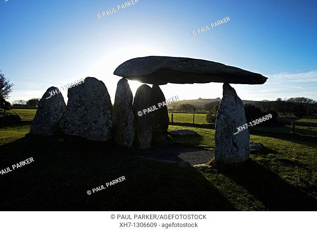 Pentre Ifan, Neolithic Burial Chamber, Pembrokeshire, West Wales, UK
